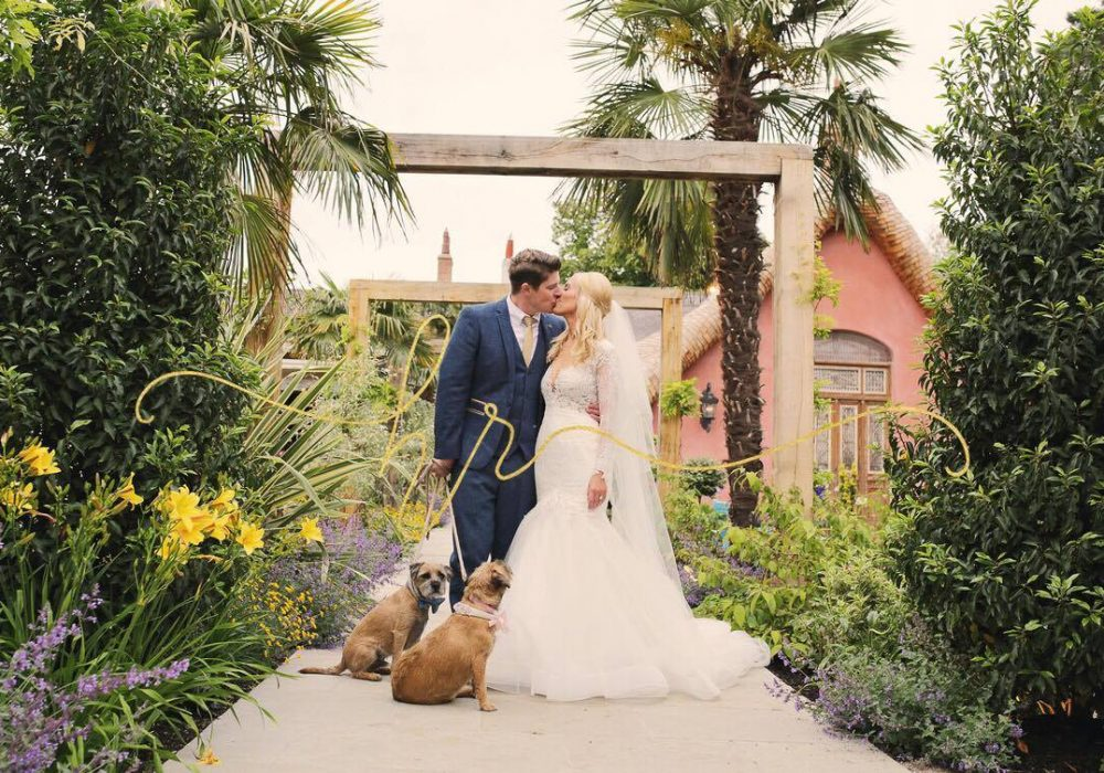LPC Dogs in Gardens with couple